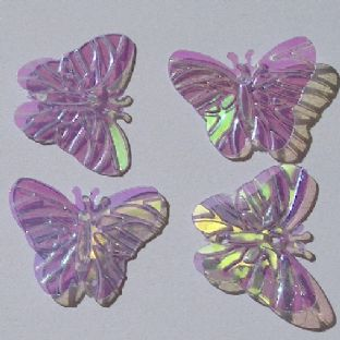 DISCONTINUED 22mm Iridescent Purple Butterfly Sequins x 150